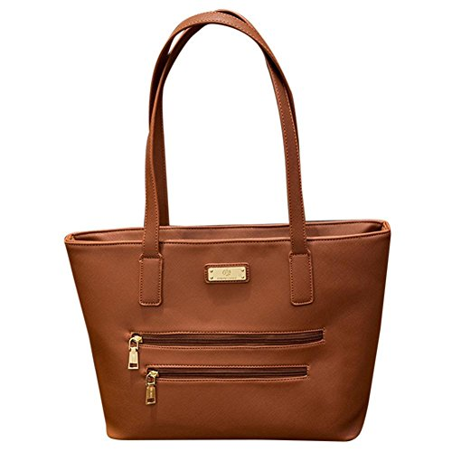 Longra Solid Color Moda donna artificiale in pelle serpentina crossbody borsa tracolla borsa Messenger Bag Marrone