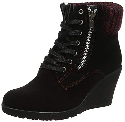 Joe Browns Damen Cute to Wedge Ankle Boots Stiefeletten, Schwarz (Black A), 42 EU