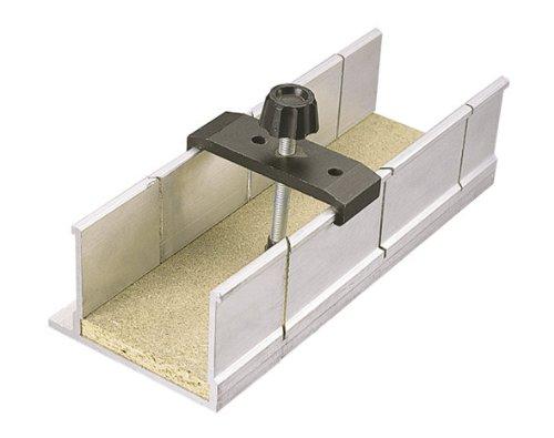 Wolfcraft 2228000 2228000-1 Caja de ingletes con Abrazadera de fijación en Aluminio, 250x73x60mm