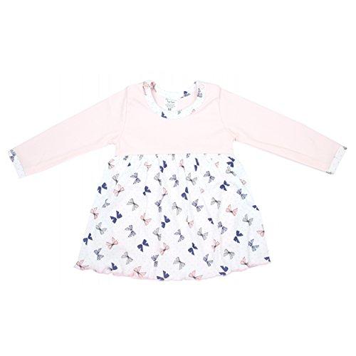 TupTam Baby Body-Kleid Mädchen Langarm-Body 100% Baumwolle Outfit Bunt Gemustert, Farbe: Schleifchen Rosa, Größe: 80
