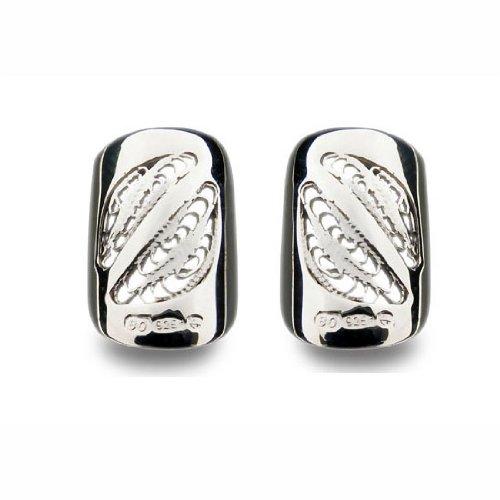 Bohem - Juego de 2 joyas decorativas de plata para uñas (plata), diseño retro de filigrana