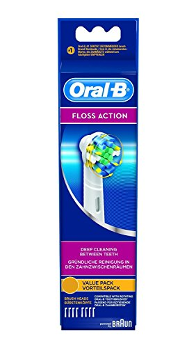 Oral-B Floss Action Electric Toothbrush Replacement Heads - 8 Counts