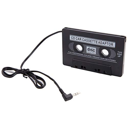 Auto-Kassetten Kasettenadapter Top Kasette Adapter Autoradio Tape Radio Converter 3,5 mm Klinkenstecker Stereo Fuer iPhone iPod MP3 AUX CD KFZ PKW LKW Schwarz - Adapter Kassette Ipod Für