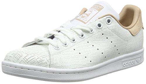 adidas Damen Stan Smith Gymnastikschuhe, Elfenbein (Ftwr White/Ftwr White/Ash Pearl S18), 42 2/3 EU (Top-grain-pearl)
