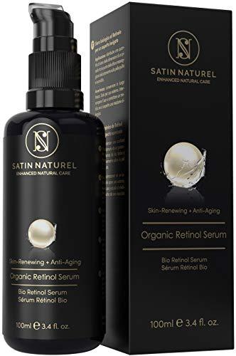 ¿Por qué el Serum Orgánico de Satin Naturel es lo mejor para ti? 1.  Serum facial de retinol y acido hialuronico de la mejor calidad: ingredientes orgánicos premium. Hecho en Alemania. 2.  El retinol altamente concentrado y los elementos selectos bot...