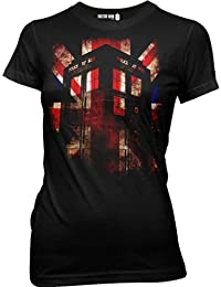 Doctor Who Union Jack Glow Juniors T-Shirt | S