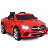 SUNCOO 12 V Mercedes-Benz SL500, Enfants Autorisés à Conduire des Voitures Electriques pour Enfants avec Télécommande, Rouge