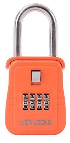 Lion Locks 1500 Key Storage Lock Box with Set Your Own Combination, Orange by Lion Locks -