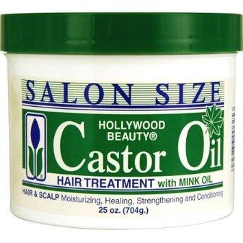 Hollywood Beauty Traitement pour cheveux à l'huile de ricin avec huile de vison,...
