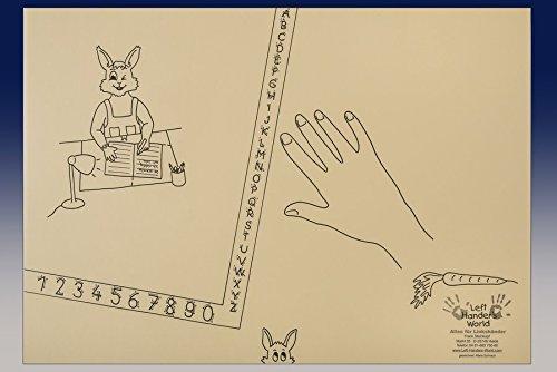 """Linkshänder Schreibunterlage """"Hasenkind"""": Linkshänder erlernen die gesunde Schreibhaltung"""