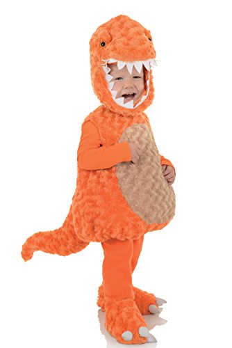 T-Rex- Dinosaurier- Orange- Kostüm Kinder Gr. (Kostüm Rex Kinder T Dinosaurier)