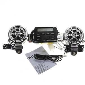 Bheema 12v moto sonore audio guidon de système radio fm