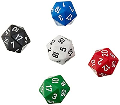 20-sided polyhedra dice (pack of 12) by Tarquin Publications