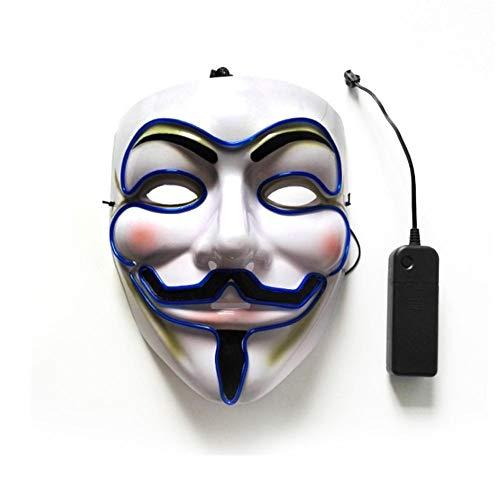 Halloween Maske Grimasse Make-Up Party Maske LED Beleuchtung Maske Cosplay Maske V Wort Smiley Maske