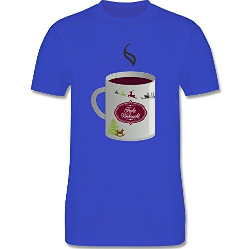 Weihnachten & Silvester - Glühwein Frohe Weihnachten - Herren Premium T-Shirt Royalblau