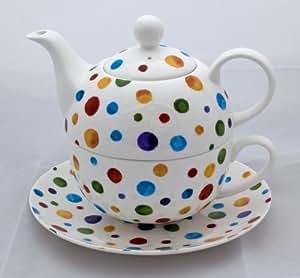Polka Dots Fine Bone China Tea for One Set