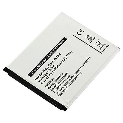subtel® Batterie premium pour Samsung Galaxy S3 mini / Ace 2 / Trend / Trend Plus / S Duos / S Duos 2 / Player One (1500mAh) EB-FIM7FLU Batterie de recharge, Accu remplacement