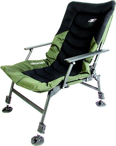 Madfish Instinct Hohe Rückenlehne Liege Stuhl Teleskop Höhe Anpassung, nicht Spüle Mud Feet, tief Gepolsterte, atmungsaktive Rückenlehne, mit Armlehnen & Liege Funktion Kostenlose Lieferung
