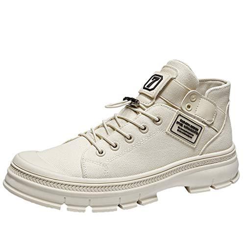 Stivali Chukka Uomo YU'TING ☀‿☀ Sneaker a Collo Alto Uomo d'Annata Stivaletti Stivali da Viaggio all'Aperto