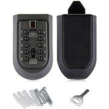 Botón de presión de combinación de 10dígitos nuzamas Key Lock caja almacenamiento seguro para exterior llave maestra con estuche estanco al agua montado en la pared para hogares clave de repuesto, Business, madres, alquiler propiedades teclas Pick Up