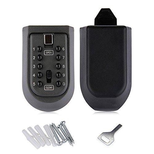 Nuzamas Schlüsseltresor mit 10-stelliger Kombinations-Zifferntastatur, wasserdicht zur Wandmontage für die sichere Aufbewahrung von Haupt- und Ersatzschlüsseln für Wohn- und Geschäftsräume