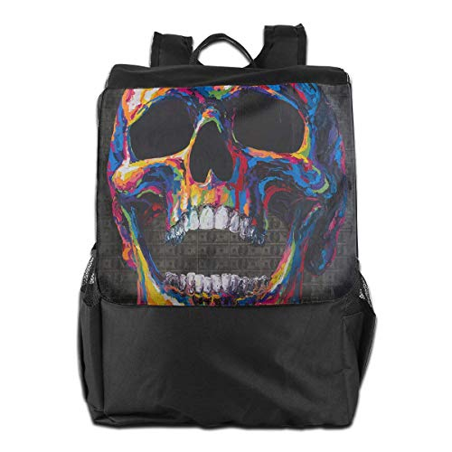 Schultaschen Schule Laptoptasche Reisetasche Colorful Skull 100 Dollars Outdoor Shoulder Backpack Tavel Bag Daypack School Laptop Bag for Women Men Kids Daypacks (Laptop-computer 100 Dollar Unter)