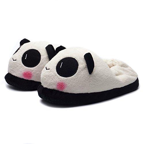 Katara 1784 pantofole panda peluche morbidissime ciabatte da casa animali antiscivolo donna uomo taglia unica 36-44