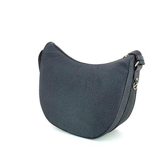 Borbonese Luna Bag Borsa donna a tracolla, grande Nero