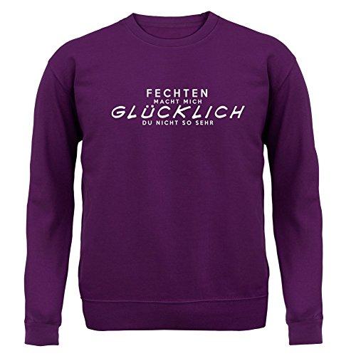 Fechten macht mich glücklich - Unisex Pullover/Sweatshirt - 8 Farben Lila