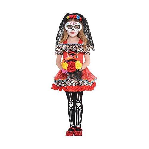 Neu Kinder Halloween Sugar Skull Senorita Kostüm - Sugar Skull Kostüm Kind
