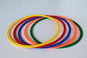 agility sport pour chiens - lot de 5 cerceaux Ø 40 cm, 5 coloris - 5x R40ybrgo