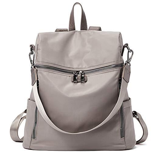 CLUCI Damen Rucksack Nylon Schultaschen Wasserdichte Diebstahlsicherer Rucksäcke Leichter Mode Tagesrucksack Schultertaschen Taupe - Nylon-leichter Rucksack