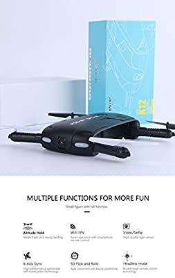 POCKET DRONE KATTOP K12WF UPGRADED FPV FOLDABLE / WIFI CAMERA/ APP CONTROL/ 2.4Ghz 6-AXIS GYRO/ ALTITUDE HOLD