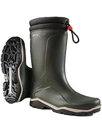 Dunlop - Botas de Caucho para Hombre Verde Verde