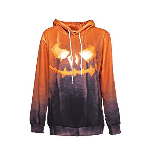 (YaXuan Mode Paare 3D Lose Hoodies Pullover Grafik Sweatshirts Halloween Kostüme Cosplay Wilde Drucke Halloween Für Männer Frauen (Farbe : Photo Color, Größe : XXL))