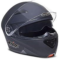 Oxide Vader Casco modular reversible para motocicleta antichoques color mate