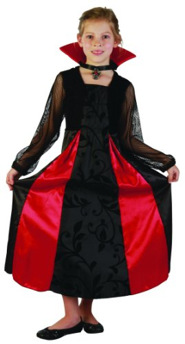 er-Kostüm schwarz-rot 140/152 (10-12 Jahre) (Süße Vampir Kostüm)