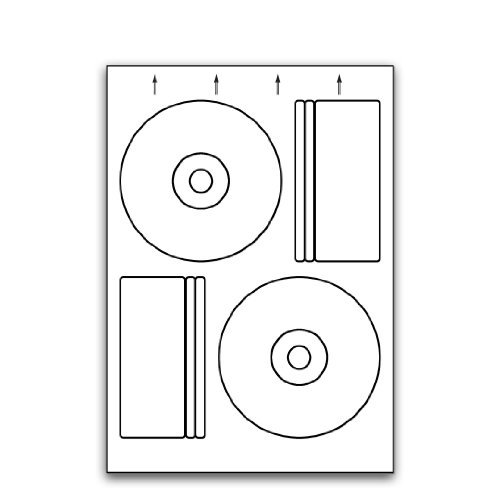 Multi Purpose White Permanent 118mm Pressit Compatible Cd/Dvd Labels - 50 Sheets 118mm x Diameter