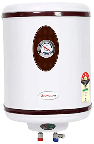 LONGWAY® HOTPLUS 15 LTR. 5 Star Storage Water Heater Geyser WT AVS Technology, Temperature Meter, HD ISI Element & Capsule Type SS Tank 24 Month Warranty (Ivory)