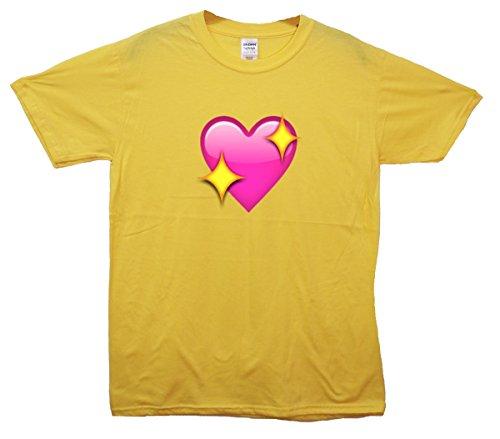 Sparkling Heart Emoji T-Shirt Gelb