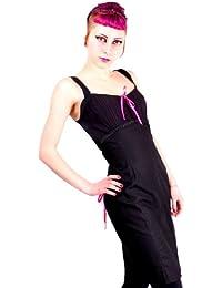 Vestido de lápiz de color rosa negro S / 36