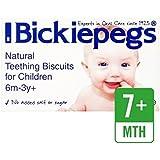 Bickiepegs Galletas De Dentición Natural Para Los Niños 38G - Paquete de 6