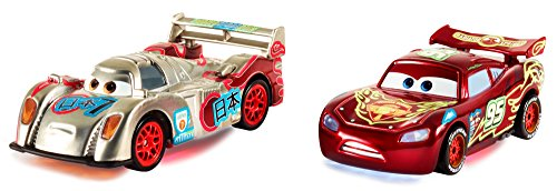 SDCC 2014 Exclusive Disney Pixar CARS Special Edition Light-up Neon Racers Gift Pack