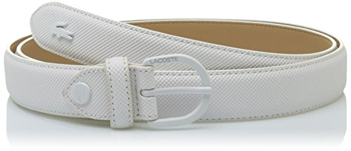 Lacoste Damen Gürtel RC0112, Weiß (Blanc), 100 cm