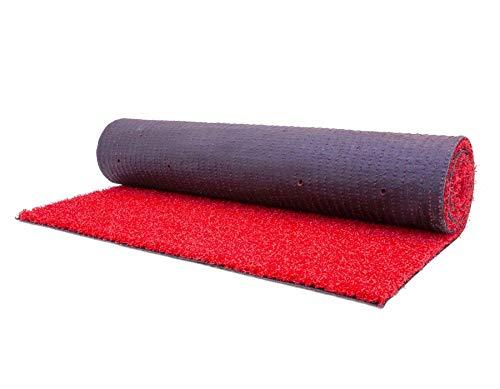 Outdoor Eventläufer Rot VIP Teppich - 1,00m x 3,00m Empfangsteppich Läufer Eventteppich Hochzeitsteppich Hochzeitsläufer Robust