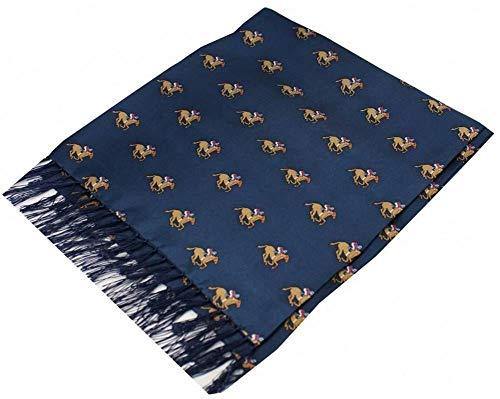 David Van Hagen - Bufanda de seda, diseño de caballo, color azul