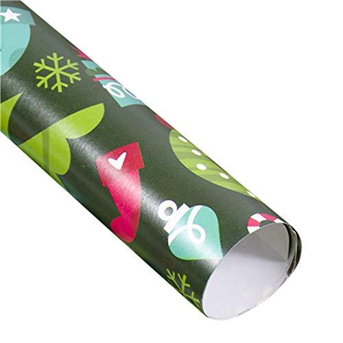 Bescita Weihnachtspapier Ausgewählte Serien schönes Geschenkpapier Weihnachten, Hochwertige Geschenkverpackung mit Sterne für Geburtstage, Ostern oder Weihnachten - 3 Rollen (A)