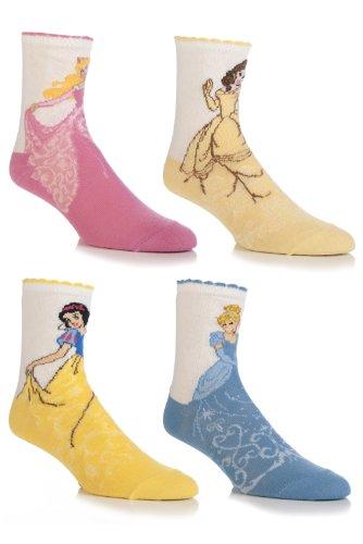 Girls 4 Pair SockShop Disney Princess Socks