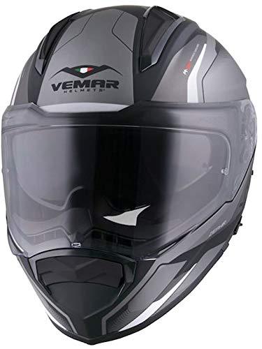 Vemar Casco Moto Zephir Lunar Matt Plata