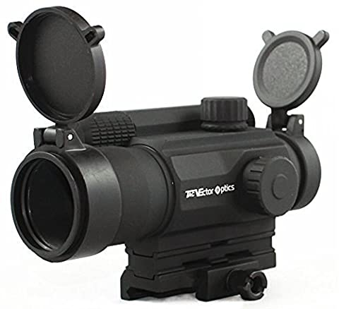 TAC Vector Optics Tempest 1x35 Multi Reticle Tactical Red Dot Scope Mil-spec Matte Finish AA Battery fit Picatinny Rail for Night Vision Color
